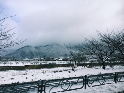 Driving in the Japanese Alps